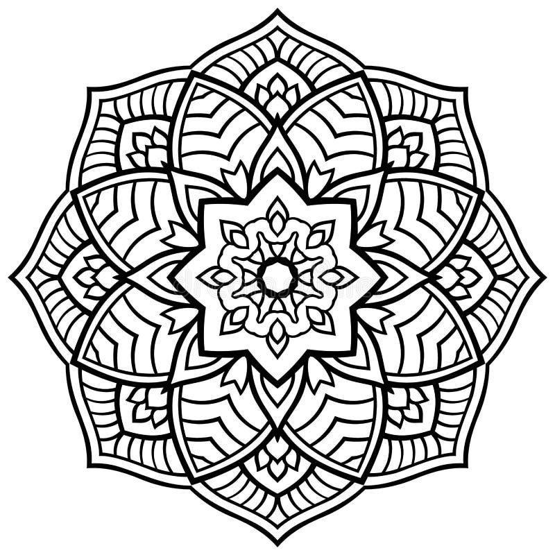 Wektorowy prosty mandala ilustracji