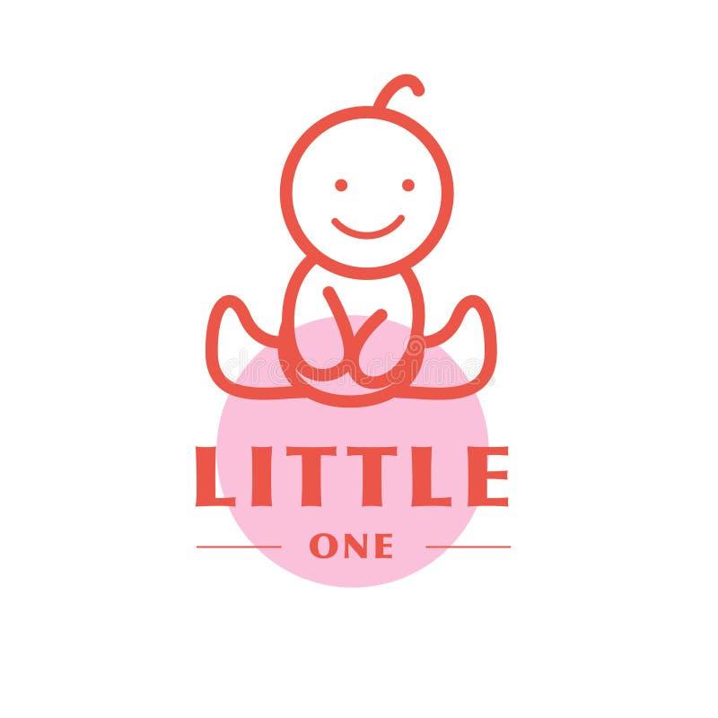 Wektorowy prosty płaski dzieciaka logo ilustracji