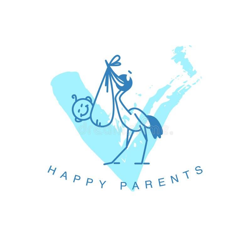 Wektorowy prosty płaski dzieciaka logo royalty ilustracja