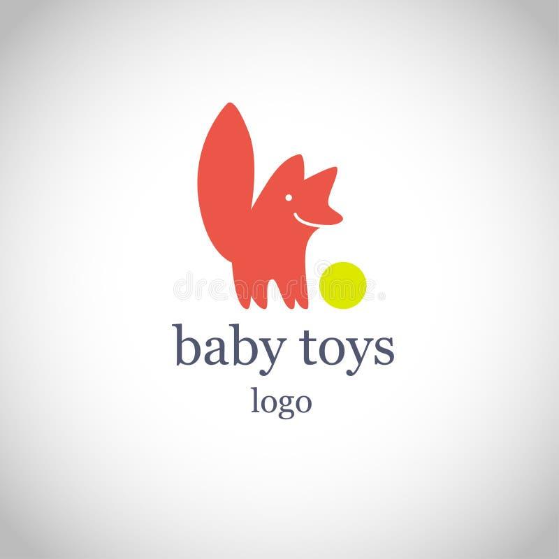 Wektorowy prosty płaski dzieciaka logo ilustracja wektor