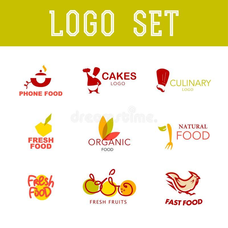 Wektorowy prosty płaski karmowy logo ilustracja wektor