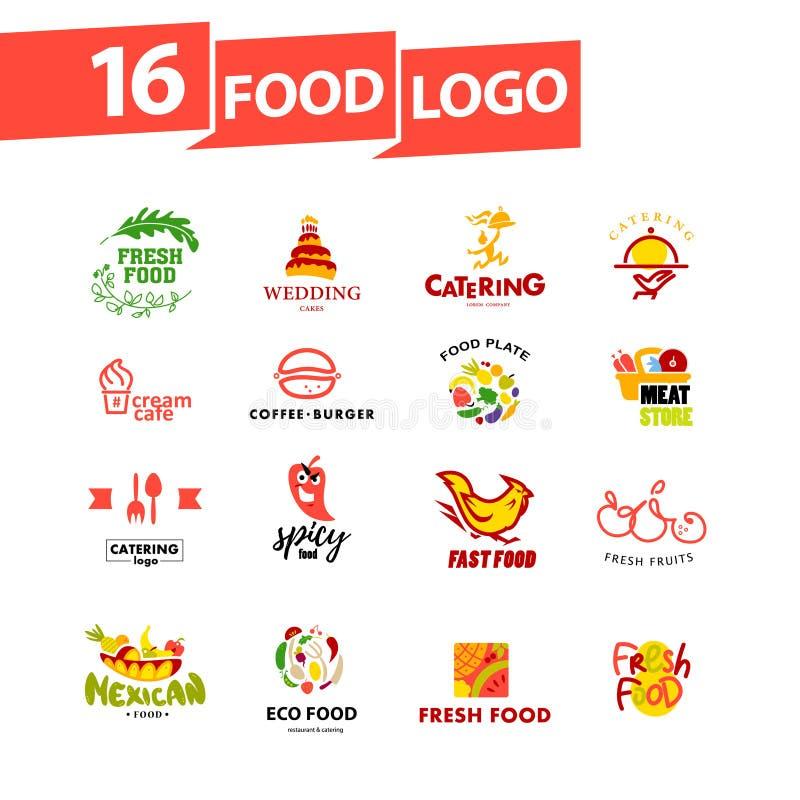 Wektorowy prosty płaski karmowy logo royalty ilustracja