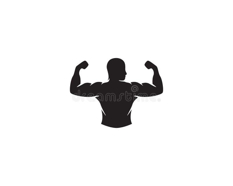 Wektorowy przedmiot i ikony dla sport etykietki, Gym odznaka, sprawność fizyczna loga projekt royalty ilustracja