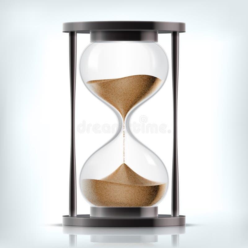 Wektorowy przejrzysty piaska hourglass royalty ilustracja