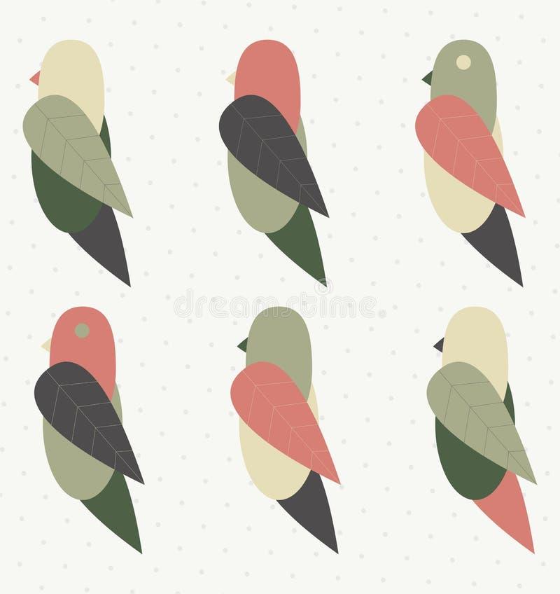 Wektorowy ptak z ulotką obrazy royalty free