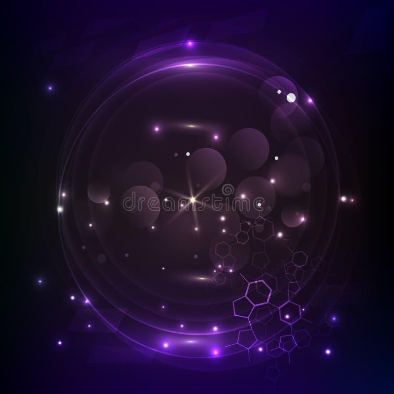 Wektorowy Purpurowy t?o Abstrakcjonistyczny futurystyczny HUD element ilustracja wektor