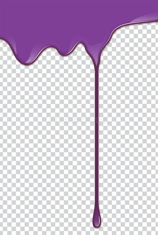 Wektorowy purpury pluśnięcie z przezroczystości tłem ilustracji