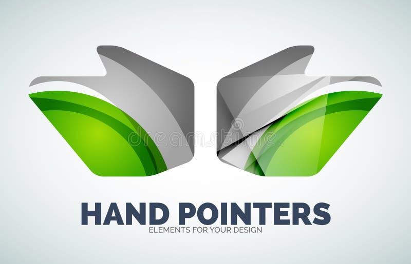 Wektorowy ręki myszy pointer royalty ilustracja
