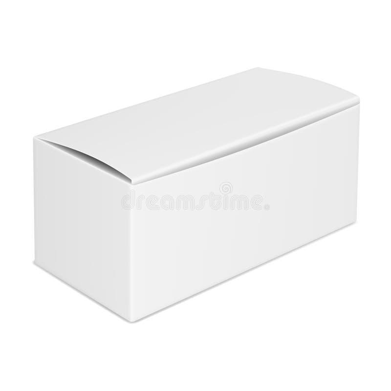 Wektorowy realistyczny wizerunek zamknięty pusty papierowy pudełko ilustracji