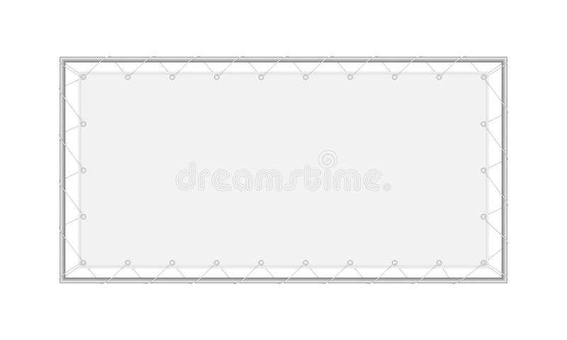 Wektorowy realistyczny wizerunku układ, egzamin próbny pustej tkaniny prostokątny sztandar ilustracji