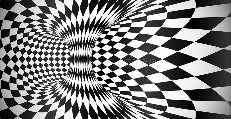Wektorowy rhombus wzoru powierzchni okulistycznego złudzenia abstrakta tło ilustracja wektor