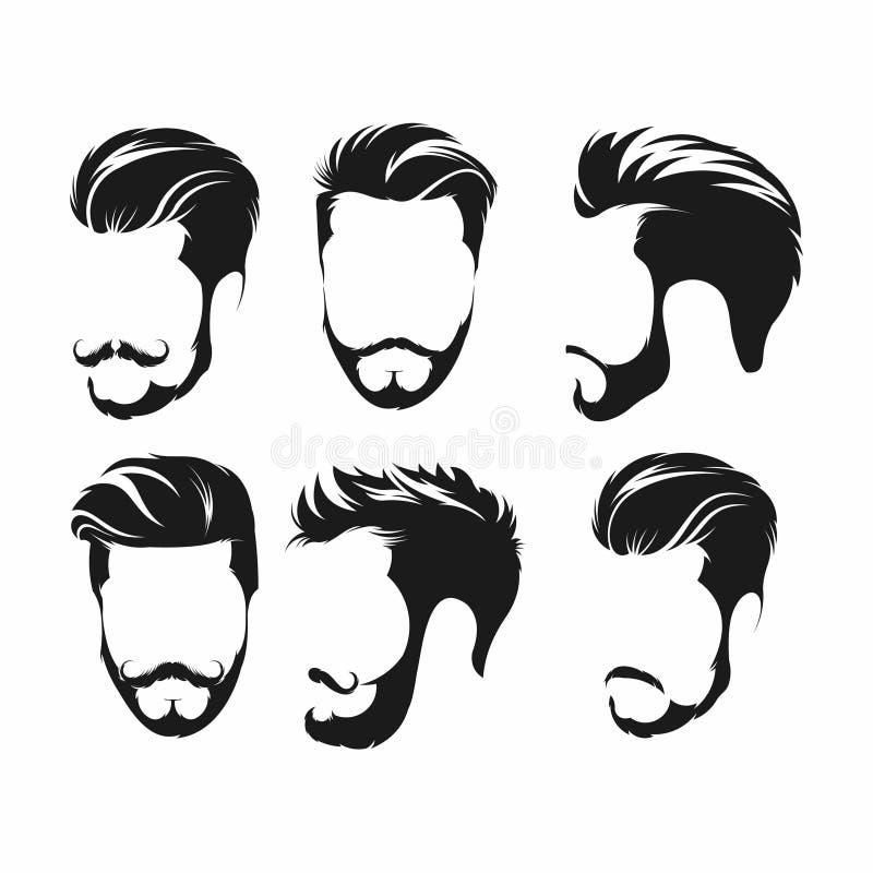 Wektorowy rocznik fryzury fryzjera męskiego sklepu logo dla twój projekta - wektor ilustracji