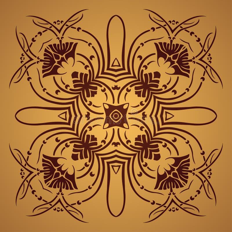 Download Wektorowy Round Retro Ornament Ilustracja Wektor - Ilustracja złożonej z symbol, dekoracje: 41954273