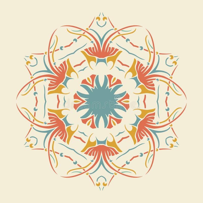 Download Wektorowy Round Retro Ornament Ilustracja Wektor - Ilustracja złożonej z okrąg, znak: 41954712