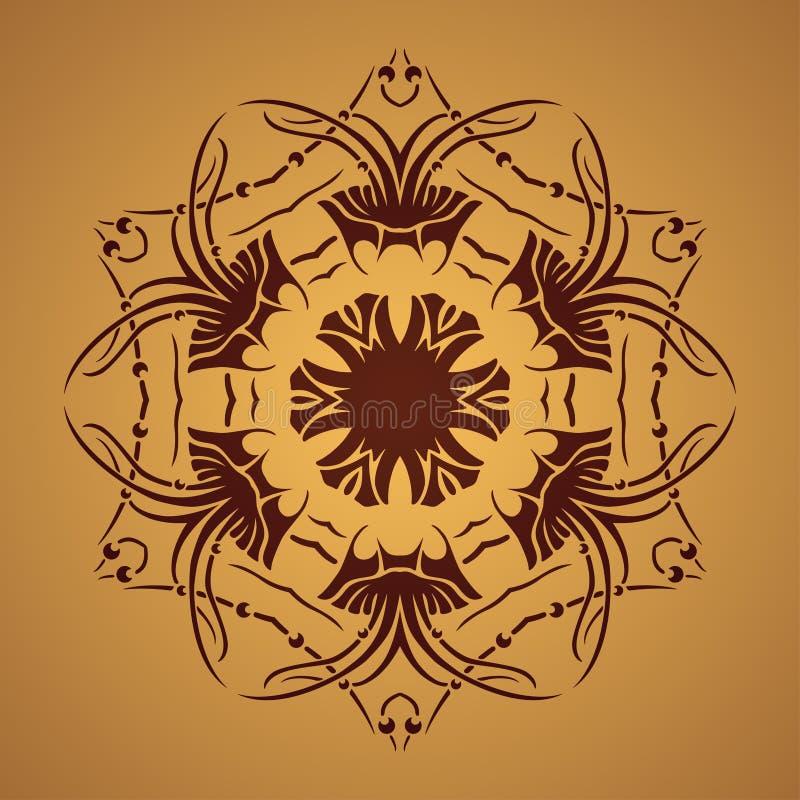 Download Wektorowy Round Retro Ornament Ilustracja Wektor - Ilustracja złożonej z miejscowy, india: 41954856