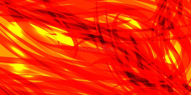 Wektorowy rozjarzony Marsjański tło kolor żółty i czerwone linie royalty ilustracja