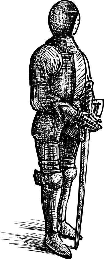 Rycerza opancerzenie ilustracja wektor