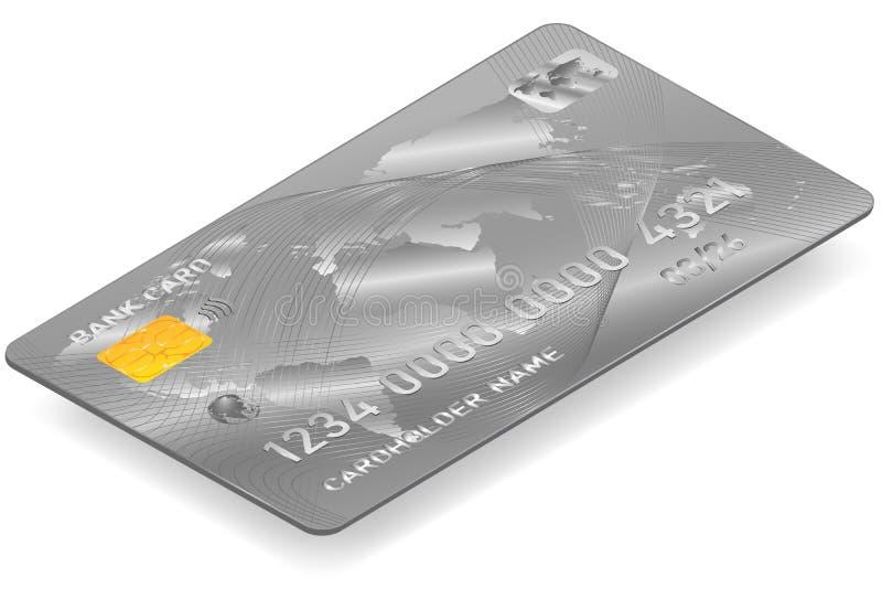 Wektorowy rysunek bank karty bielu t?o ilustracja wektor