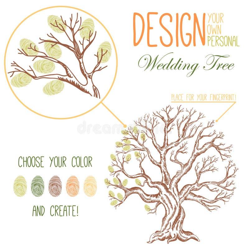 Wektorowy rysunek drzewo ilustracja wektor