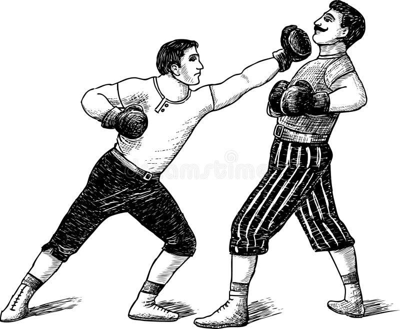 Roczników boksery ilustracji