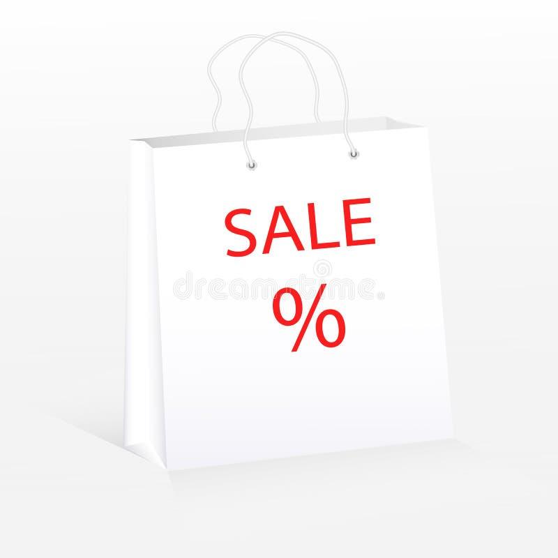 Wektorowy rysunek realistyczny pakunek dla robić zakupy, obraz stock