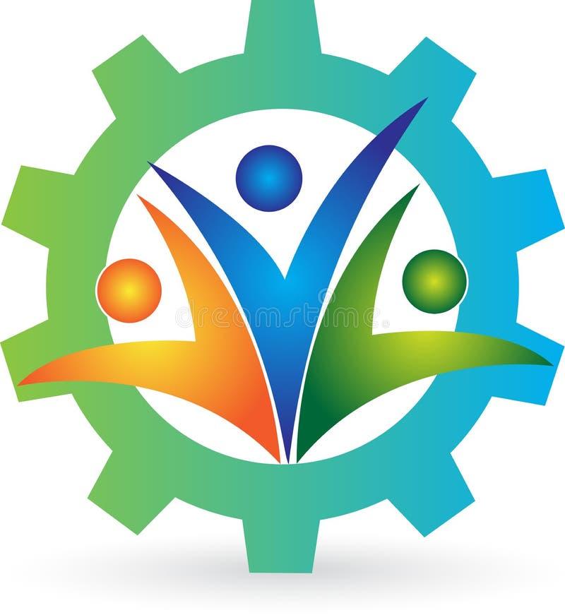 Fabryczny logo royalty ilustracja