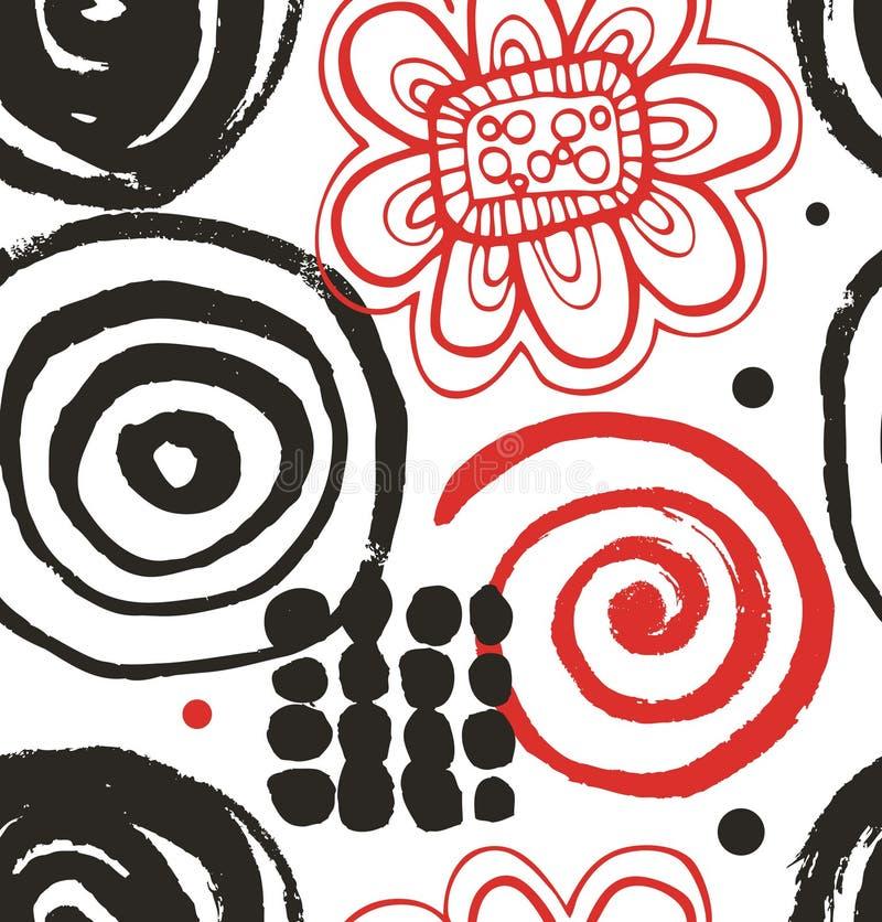 Wektorowy rysunkowy ustawiający z dekoracyjny atrament rysującymi elementami ilustracji