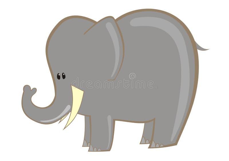 Wektorowy słoń royalty ilustracja