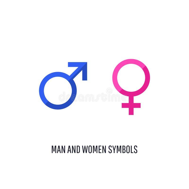 Wektorowy samiec i kobiety ikony set ilustracja wektor
