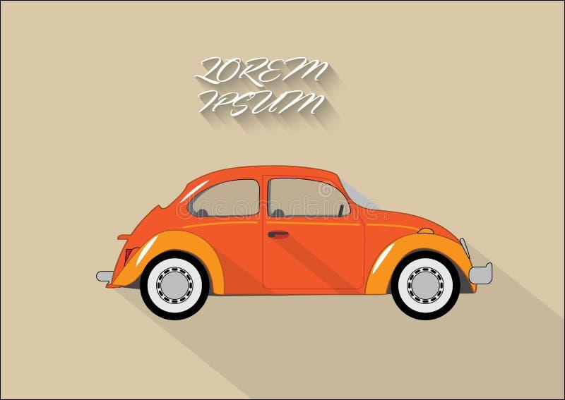 Wektorowy samochód ilustracji