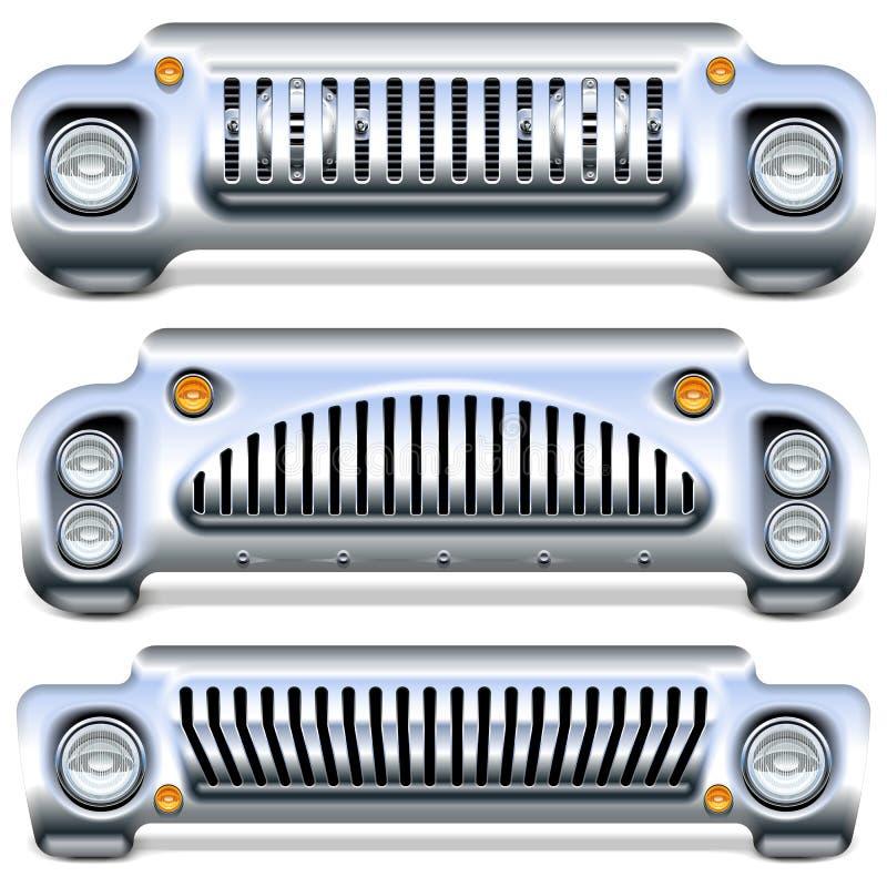 Wektorowy Samochodowy początkowy royalty ilustracja
