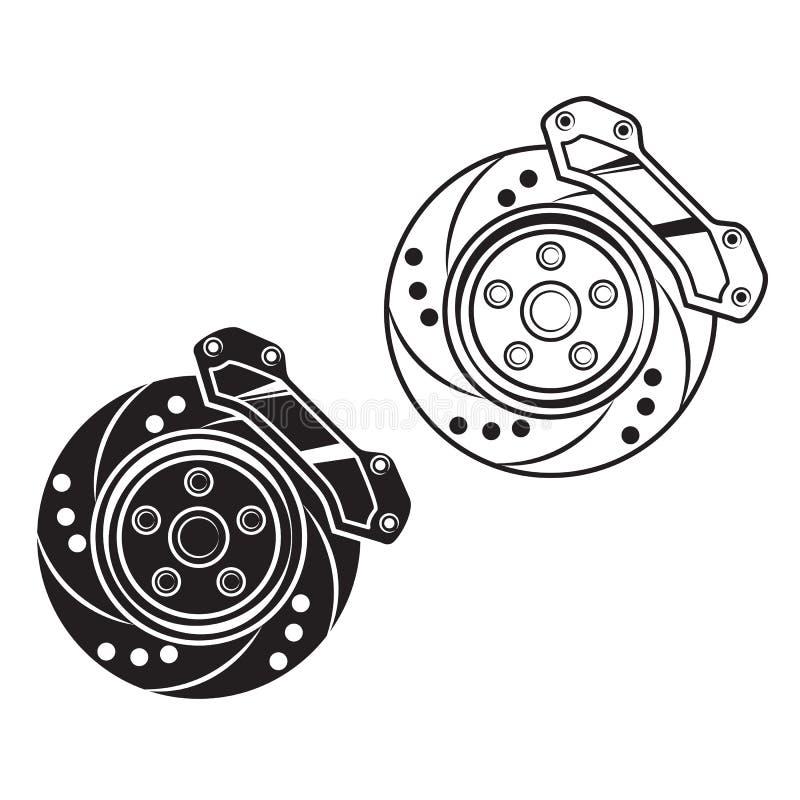 Wektorowy samochodu hamulec ilustracja wektor