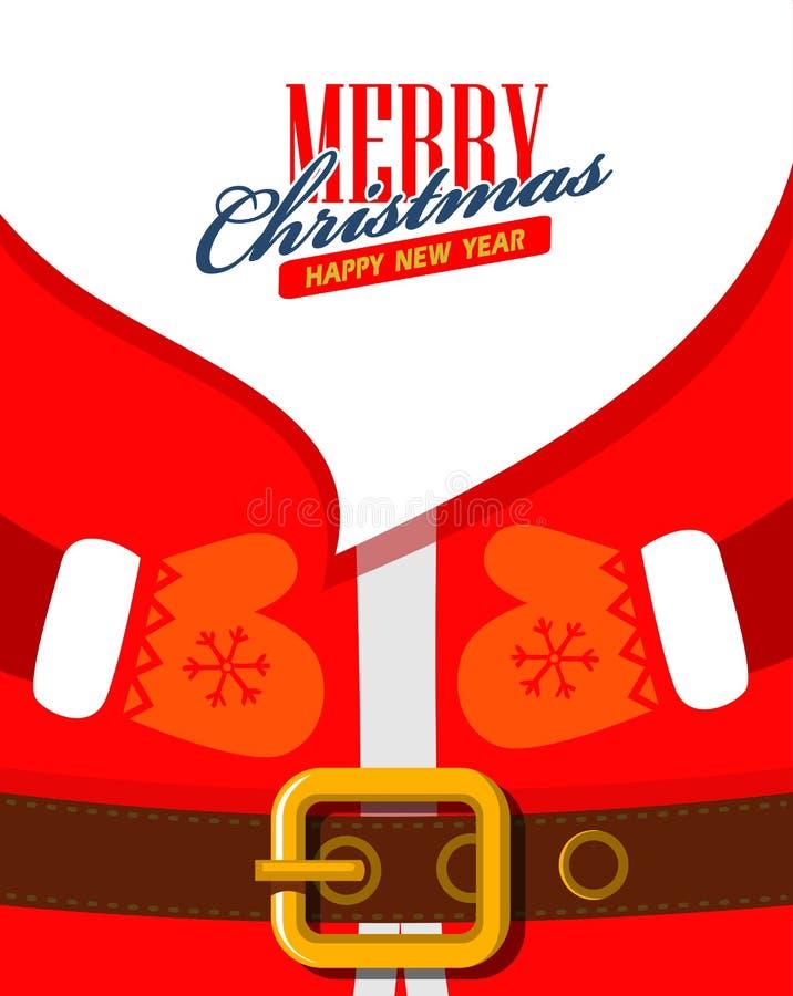 Wektorowy Santa Claus zakończenie up ilustracja wektor