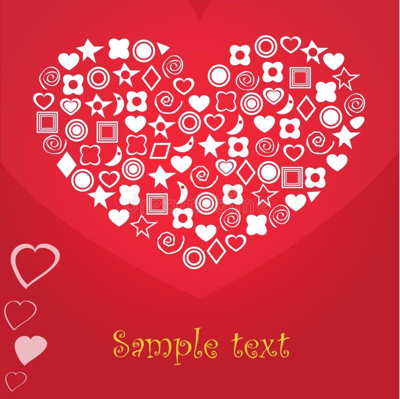 Download Wektorowy serce. ilustracja wektor. Obraz złożonej z kwadrat - 30728320