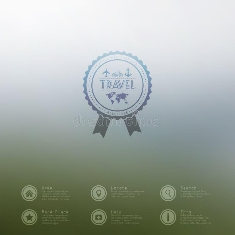 Wektorowy sieci i wiszącej ozdoby interfejsu szablon Podróży strony internetowej korporacyjny projekt Minimalistic tło wektor _ z royalty ilustracja