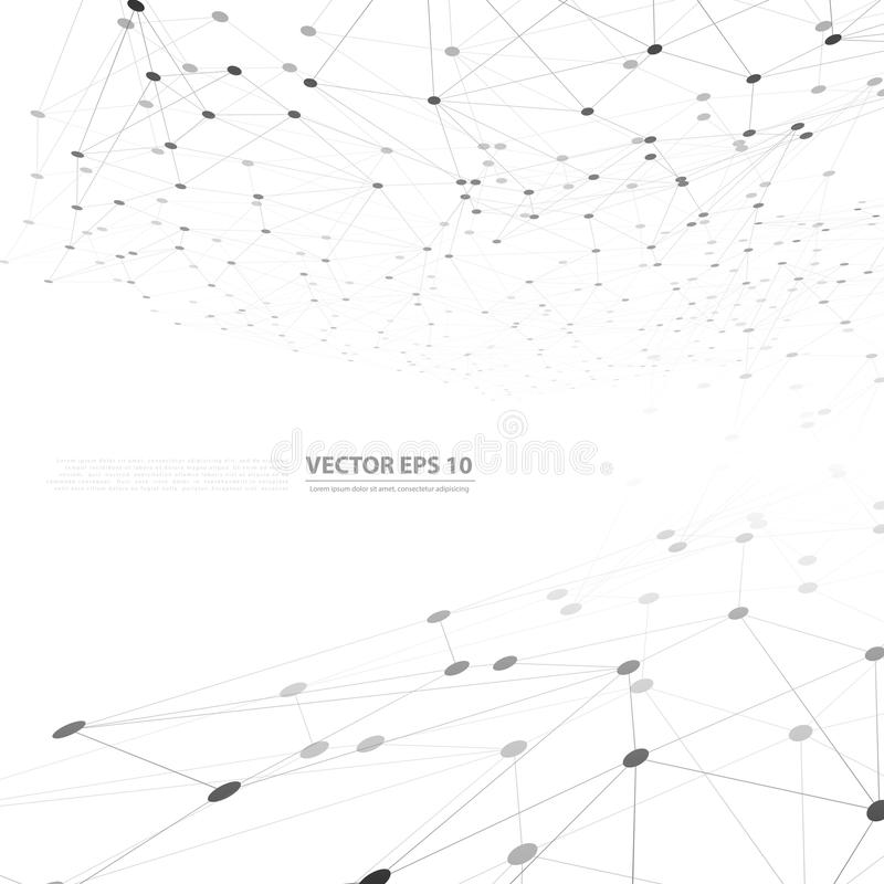 Wektorowy sieci tła abstrakta wielobok ilustracji