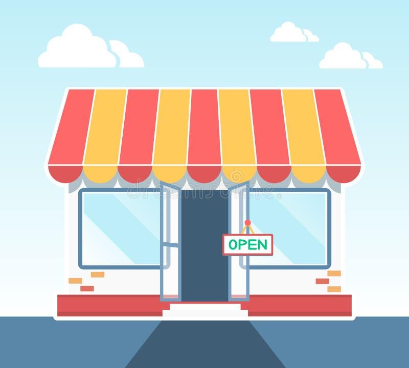 Wektorowy sklep royalty ilustracja
