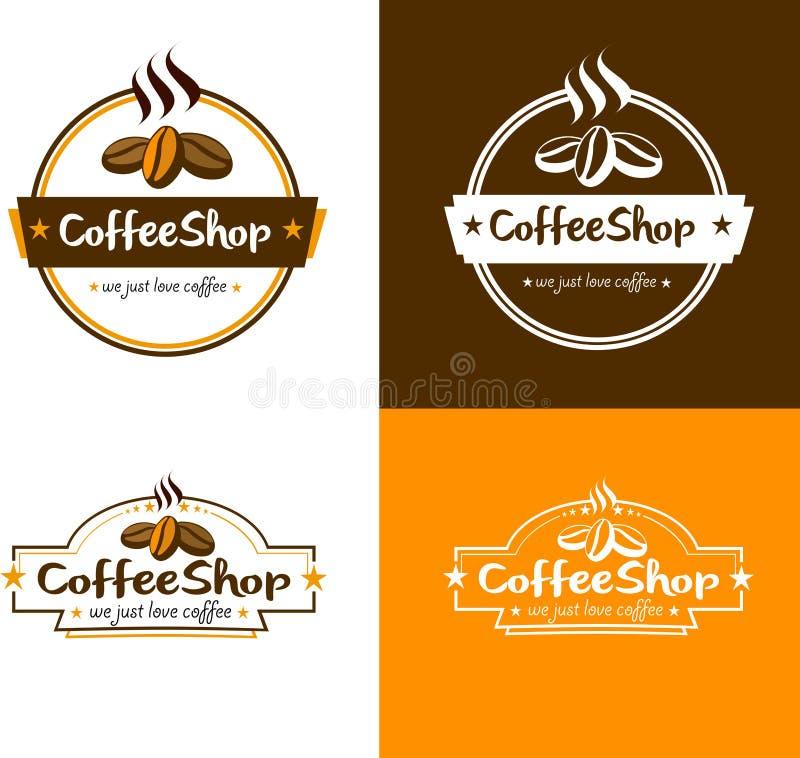 Wektorowy sklep z kawą logo ilustracja wektor