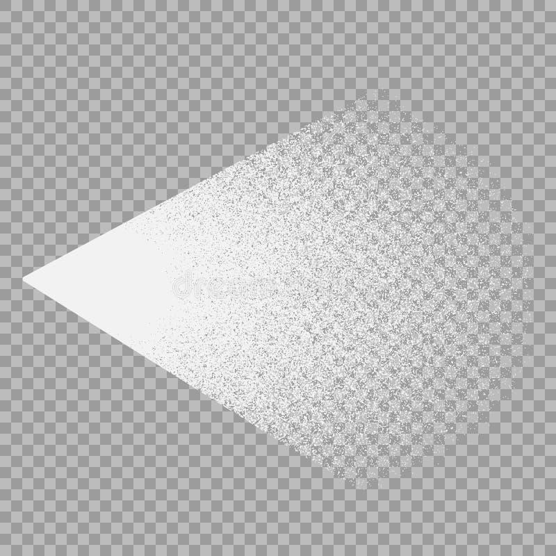Wektorowy skutek biała wodna kiść Pulverizer kosmetyka strumienie Projekta element odizolowywa na przejrzystym tle ilustracja wektor