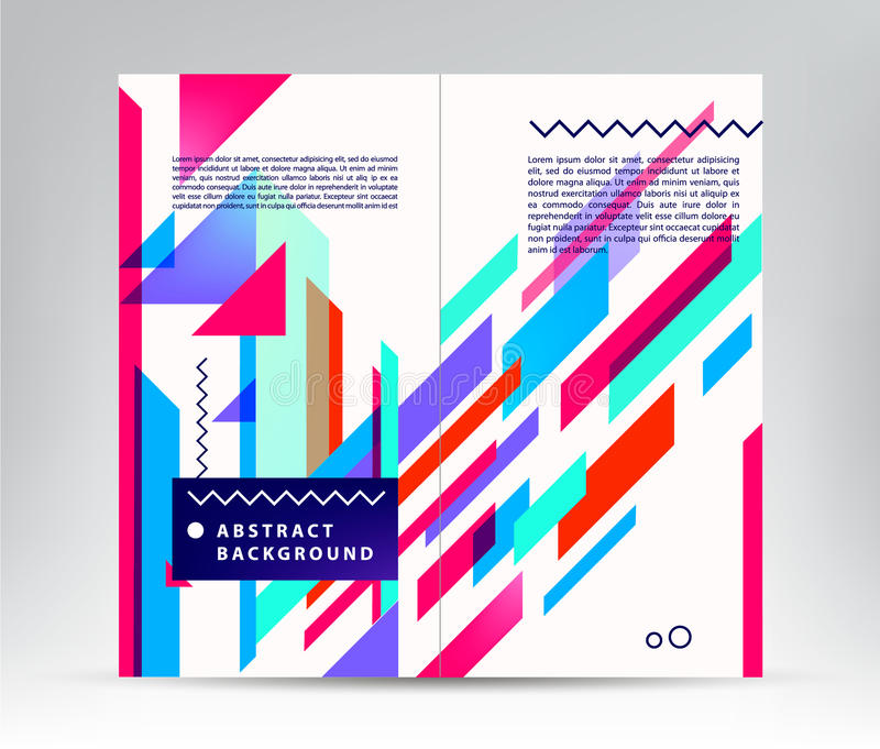 Wektorowy sprawozdanie roczne broszurki ulotki projekta szablon, ulotki okładkowa prezentacja ilustracja wektor