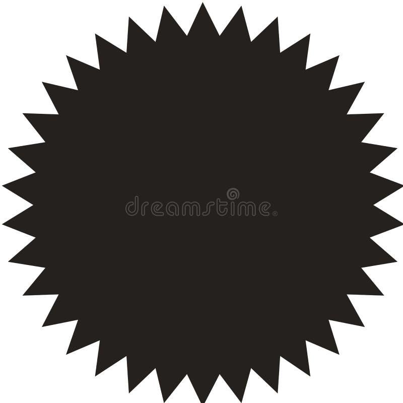 Wektorowy starburst, sunburst odznaka Rocznik etykietka, majcher ilustracja wektor