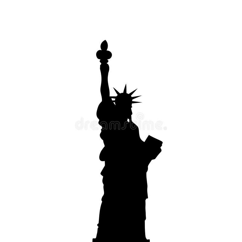Wektorowy Statuy Wolności Czerń Ocienia Sylwetkę ilustracja wektor
