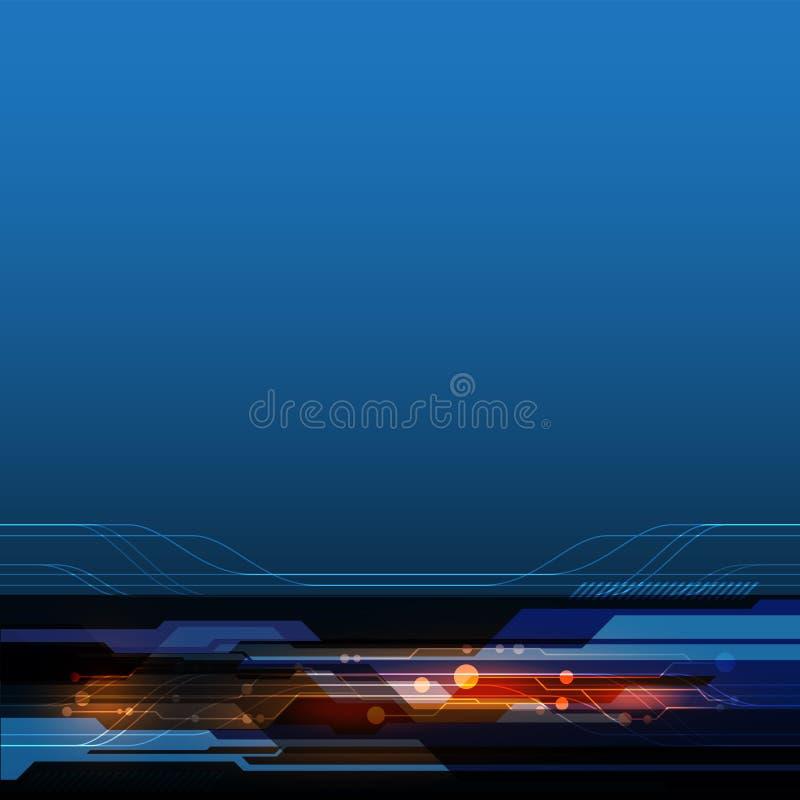 Wektorowy strzałkowaty automatyzacji technologii abstrakt, futurystyczny laserowy tło royalty ilustracja