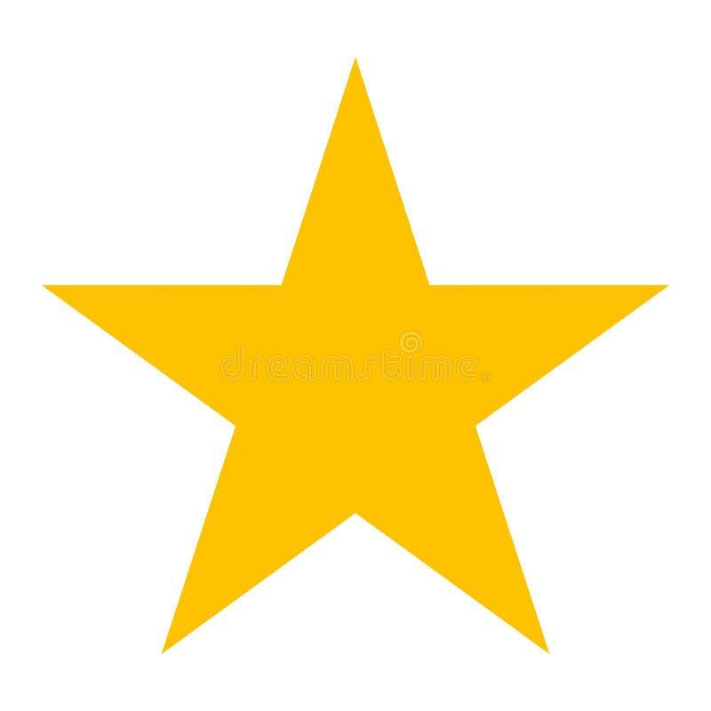 Wektorowy symbol - gwiazdowa ikona obrazy stock