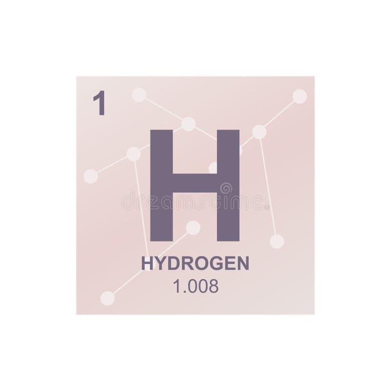 Wektorowy symbol wodór na tle od związanych molekuł royalty ilustracja