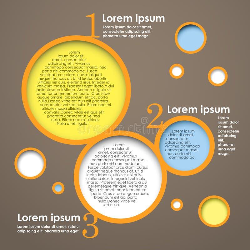 Wektorowy systemu okręgu kolor ilustracji