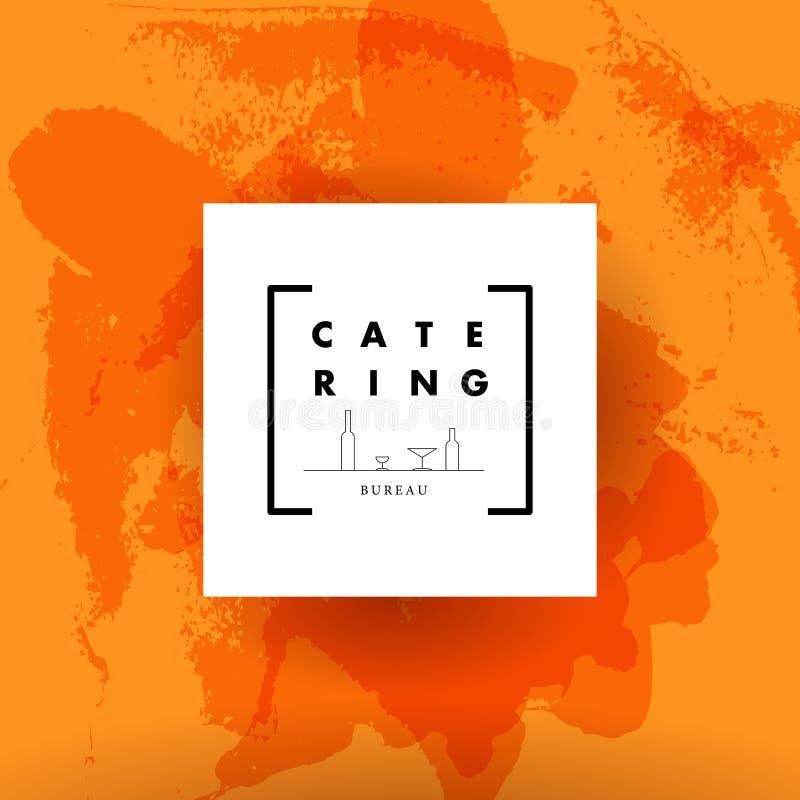 Wektorowy szablon catering firmy logo ilustracji
