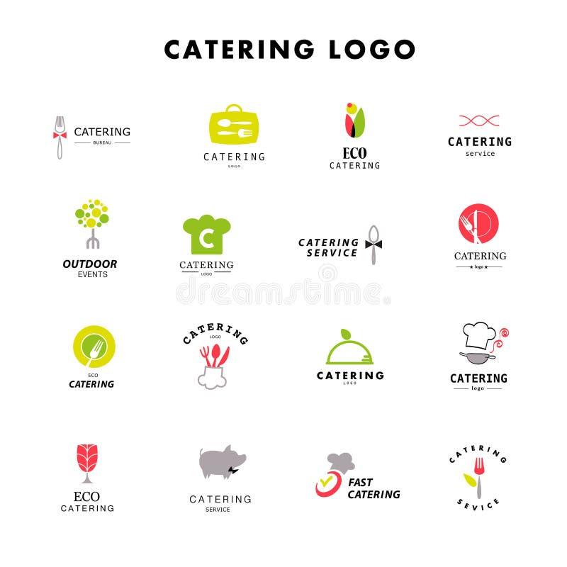 Wektorowy szablon catering firmy logo royalty ilustracja
