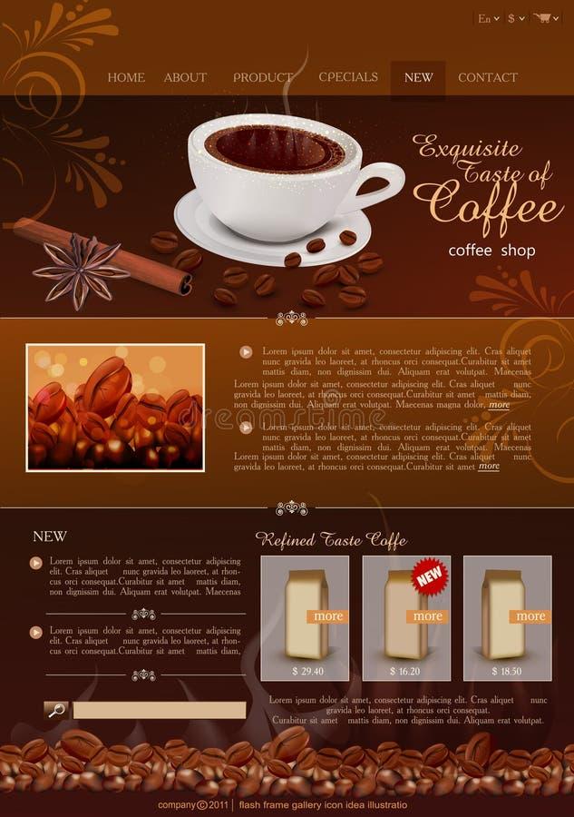 Wektorowy szablonu miejsca sklep z kawą royalty ilustracja