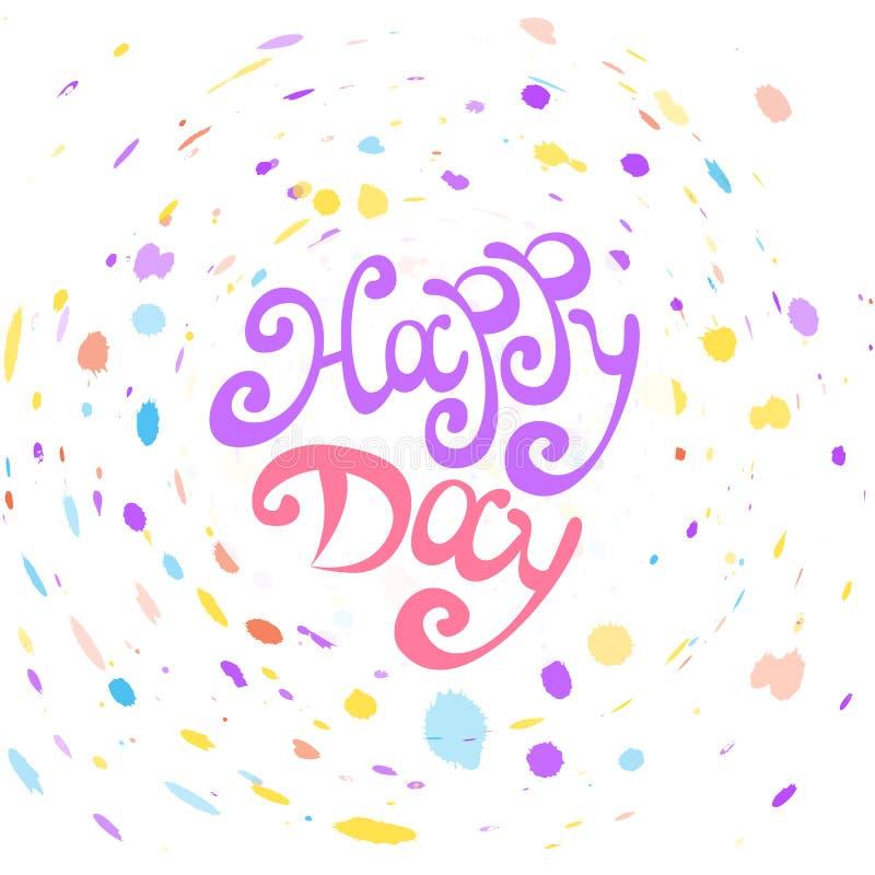 Wektorowy Szczęśliwy dzień ilustracja wektor
